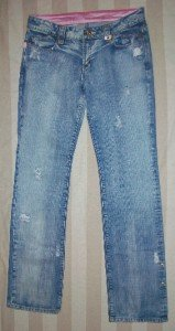 NEW DIAMANT Stressed Rhinestone Jeans 31 34 x 33 $588