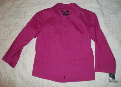 NWT DKNY Pink Button Front Blazer Jacket 2 $395 NEW