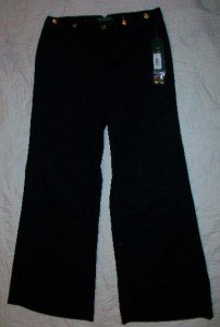 NWT Ralph Lauren Black Trousers Pants 6 31 x31 $99 NEW