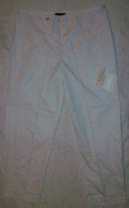 NWT Sutton Studio Ivory Light Slacks Pants 12P NEW $79