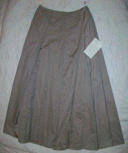 NWT Sutton Studio Beige A-Line Toast Tan Skirt 10P $249