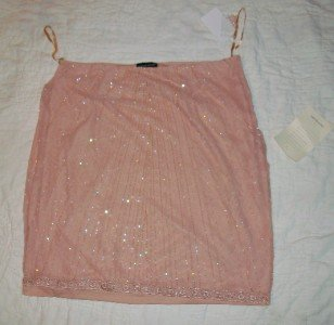NWT Sutton Studio Pink Embellished Skirt 16P $199 NEW