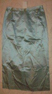 NWT Bloomingdale's Seafoam Silk A-line Skirt 10 NEW $89