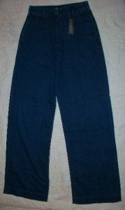NWT London Jeans Easy Fit Pleat Blue Dungaree 2 $69 NEW
