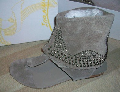 NEW IOANNIS Leather Jewel Boot Sandal Shoe 7.5 $220 NEW