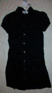NWT HYDEN YOO S/S Drop Waist Linen Dress 0 NEW $250