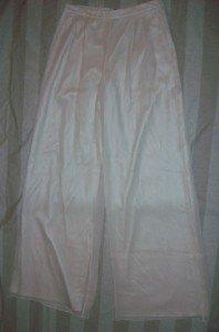 NWT ST. JOHN EVENING Ivory Silk Chiffon Pants 4 28 $650