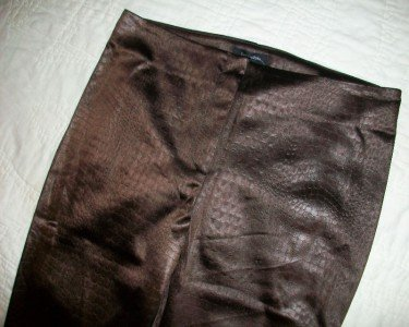 NWT FASHIONISTA Crop Faux Snakeskin Pants 6 30 $226 NEW