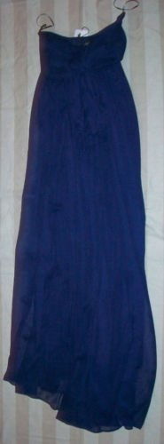NWT USE UNUSED Twist Navy Flowing Maxi Dress M $495