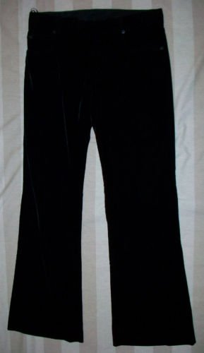 NWT JEAN PAUL GAULTIER Black Velvet Pants 42 8 $1015