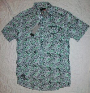 NWT Firetrap Wild SS Floral Snap Front Shirt L NEW $85