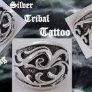 925 Silver Tribal Tattoo Chopper Biker Ring US sz 9.25