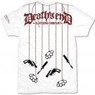 Death's End Rulez Gothic Biker Cotton Skull T-Shirt L