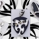 925 Silver Tribal Tattoo Guitar Pick Necklace Pendant