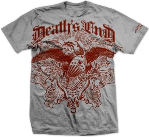 Death's End Courage Gothic Biker Skull T shirt sz L