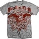 Death's End Courage Gothic Biker Skull T shirt sz L