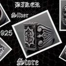 925 SILVER TRIBAL CRUSADER BIKER KING RING US sz 10.75