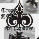 925 Silver Maltese Cross Good Luck Ace of Spades 10.75