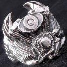 Sterling Silver Tribal Piston Wing Biker Ring sz 10.25