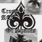 925 Silver Maltese Cross Good Luck Ace of Spades 11.5
