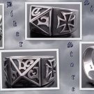 925 SILVER MALTESE CROSS TRIBAL GOTHIC KING RING 10.5