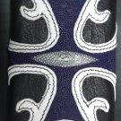 Tribal Design Calf Leather Stingray Eye Chopper Biker Wallet