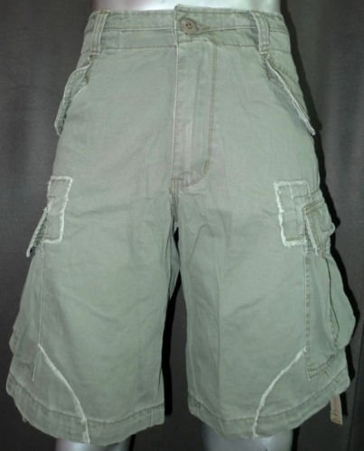 NEW GREEN MOLECULE CARGO TOUGH 100% COTTON SHORTS  S-L
