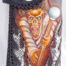 BIFOLD CARVED GHOST SCEPTER SNAKE / CALF LEATHER WALLET