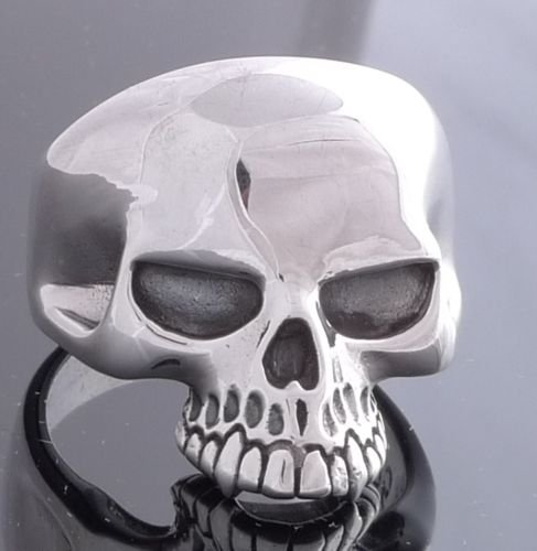 925 STERLING SILVER KEITH RICHARD SKULL JAW ROCKSTAR BIKER KING RING US sz 10
