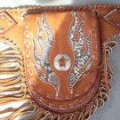 TRIBAL FLAME LEATHER CHOPPER MONEY LADIES BELT HIPSTER