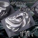 CUSTOM 925 STERLING SILVER TRIBAL FIRE TATTOO BIKER CHOPPER KING RINGUS 10.75