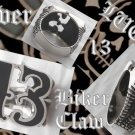 925 SILVER LUCKY 13 BIKER CLAW DRAGON FANG KING ROCK STAR CHOPPER RING sz 8.75