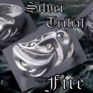 925 STERLING SILVER TRIBAL FIRE TATTOO FLAME BIKER CHOPPER KING RING US SZ 9