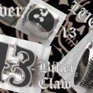 925 SILVER LUCKY 13 BIKER CLAW DRAGON FANG KING ROCK STAR CHOPPER RING sz 11.5