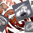 925 STERLING SILVER SCORPION BLACK GEM BIKER KING RING US sz 13