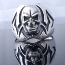 925 STERLING SILVER TRIBAL SKULL CRUSADOR MOTORCYCLE RIDER RING US SZ 7 TO 15