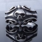TRIBAL SKULL 925 STERLING SILVER MOTORCYCLE RIDER BIKER RING US SZ 7 TO 15