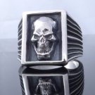 SKULL CLAW 925 STERLING SILVER LIVE TO RIDE CHOPPER RING US SZ 7 TO 15