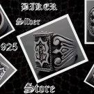 925 SILVER MEDIEVAL TRIBAL CRUSADER HEAVY SOLID BIKE RIDER ROCKSTAR RING US sz 8