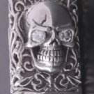 AMAZING 925 SILVER TRIBAL TATTOO CHOPPER MOTORCYCLE RIDER RING US sz 7 TO 15