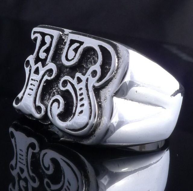 925 STERLING SILVER LUCKY 13 BIKER CHOPPER KING RING US sz 10