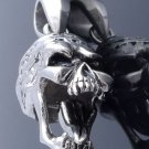 STAINLESS STEEL MOVING TOUNGE SKULL OUTLAW MUSIC PLAYER PENDANT