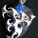 925 STERLING SILVER CUSTOM GUITAR PICK HOLDER BIKER PENDANT