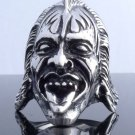HUGE STAINLESS STEEL  DEMON BIKER RING US SZ 10