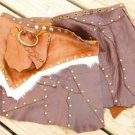 "ADJUSTABLE CUSTOM LADIES CALF LEATHER MINI SKIRT 32"" to 39"""