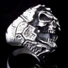 925 SILVER ENCRUSTED SKULL LOWRIDER CHOPPER RING US SZ 7 TO 15