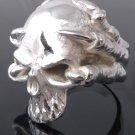 Skull Claw Biker Chopper Plated Silver Ring US sz 10.25,11.25, 11.5, 12.25, 12.5