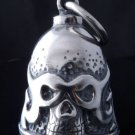 AMERICAN MOTORCYCLE FLAMING SKULL MASK PEWTER BIKER BELL