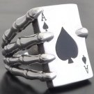 925 STERLING SILVER CARD DECK BIKER RING US sz 6 to 15