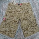 NEW BROWN CAMO SAHARA MOLECULE CARGO TOUGH 100% COTTON SHORTS  S-L